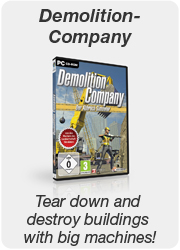 Demolition Company - Tear down and destroy buildings with big machines!